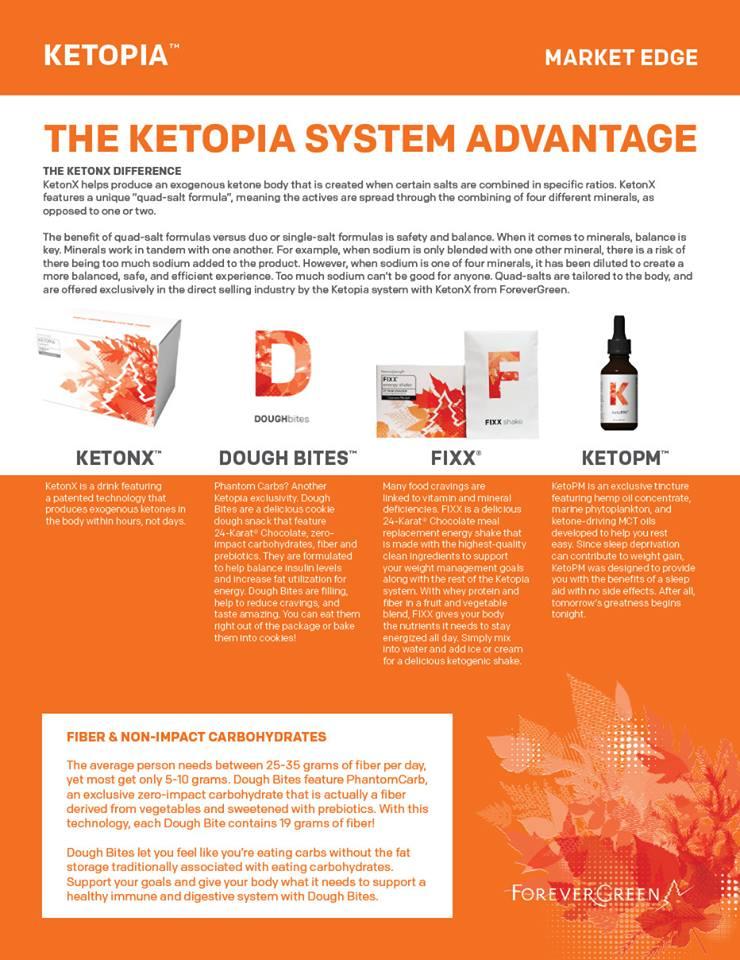 Ketopia System Advantage